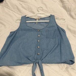 Faux Jean shirt